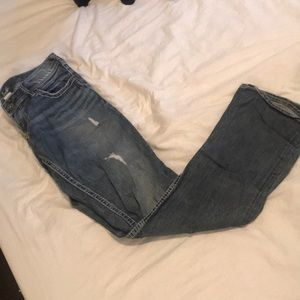 Silver Distressed Jeans Size 29